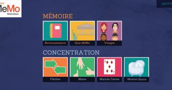 Le jeu d'entraînement cognitif MEMO est accessible sur Curapy