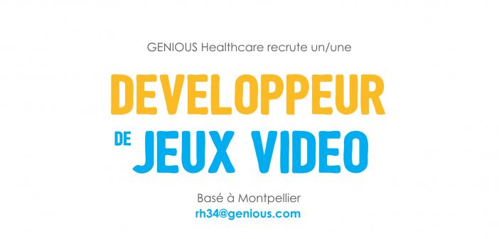 GENIOUS Healthcare recrute un développeur de Jeux Vidéo à Montpellier !
