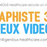 (Offre Pourvue) Genious Healthcare recrute un(e) Graphiste 3D experimenté(e) à Montpellier.