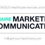 (Offre Pourvue)Genious Healthcare recrute un(e) Stagiaire en Marketing / Communication à Paris ou Montpellier.